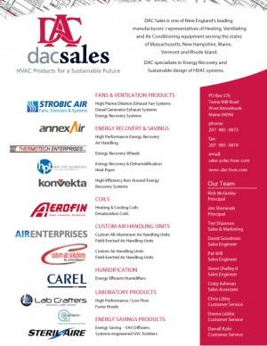 DAC Sales Linecard